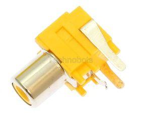 Phono Socket PCB Mounting Yellow
