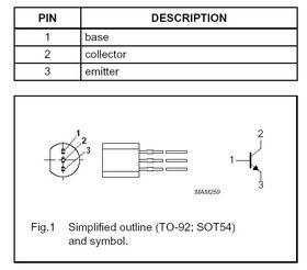BC639 NPN 80V 1A TO92 Transistor