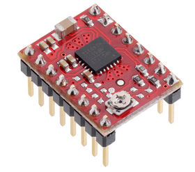 MP6500 stepper driver with headers