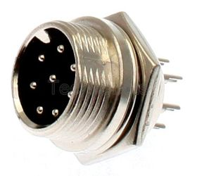 8-Pin Chassis Socket - Male