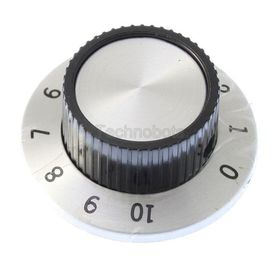 37mm Chrome Knob with Numbers for 6.35mm Shafts