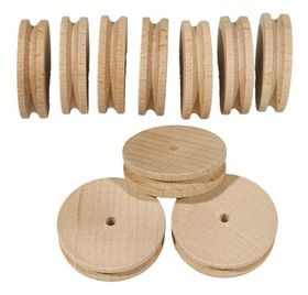 40mm Wooden Pulley Pack of 10