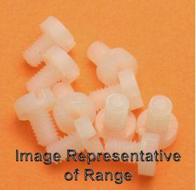 M3 x 20mm long Nylon Cheese Head Screw - Pack of 10