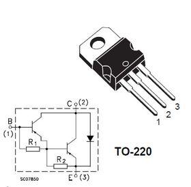 BDX53C Darlington NPN 8A 100V Transistor