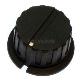 6mm Black Control Knob 35mm