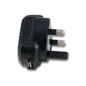 5V 1A UK Plugtop with Integral USB Socket Power Supply