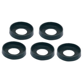 M6 Black Nylon Panel Cup Washer, Pk of 10