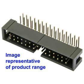 14-Way 2.54mm Pitch IDC Right Angled Boxed Header