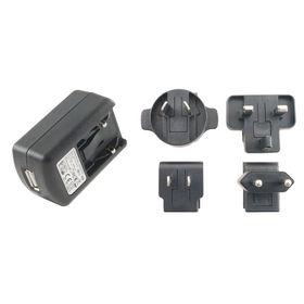 5V 1A UK Plugtop with Integral USB Socket Power Supply, UK, US, EU & AU