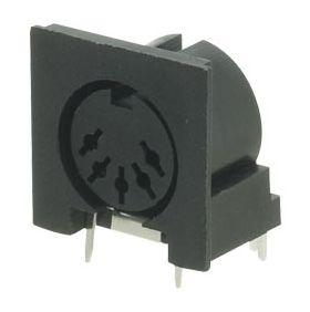 5-Pin 180 Deg Din PCB Socket