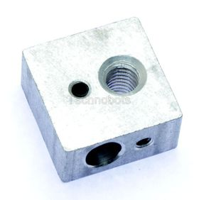 3D Printer Heater Block for Hot End MakerBot Style Mk7/Mk8