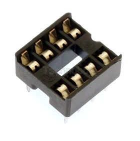 Low Profile 0.3 inch DIL IC Socket 8 Pin