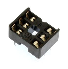 Low Profile 0.3 inch DIL IC Socket 6 Pin