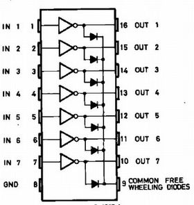 ULN2003A 7-Way Matched NPN Transistor Array