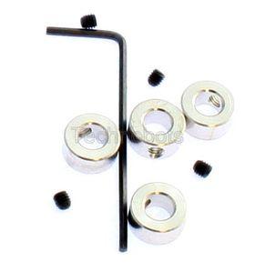 Zinc Collets 5mm pk/4