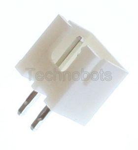 JST XH 2.5mm 2-Way Straight PCB Header (Male Socket)