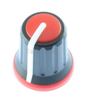 15/11.2mm Push Fit Knob Coloured Insert Red