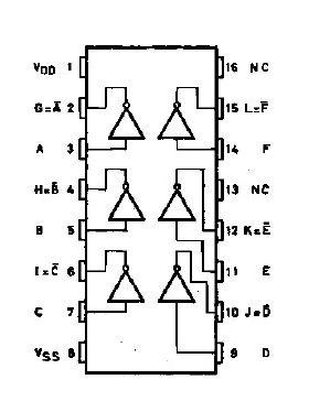 4049UB Hex Inverters/Buffers