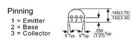 2N3906 40V TO92 PNP AUDIO Transistor