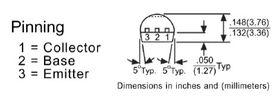 BC549B Hi Freq TO92 30V NPN Transistor